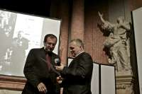 Main Prize at Academia Film Olomouc 2011 (handed over by rector of Olomouc Uni Miroslav Maslan)